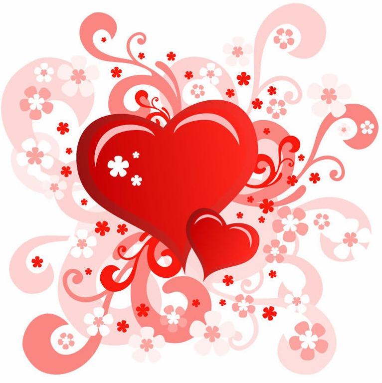 Valentines Day Swirl Floral Heart Design Essential Healing And Massage